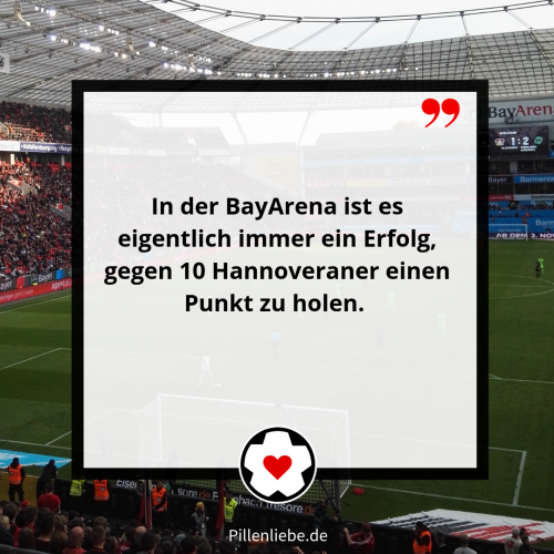 PILLENPOST BAYER 04 VS. HANNOVER 96